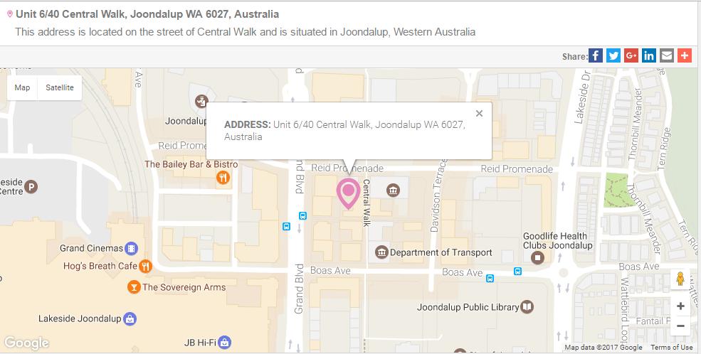 Unit 6 40 Central Walk Joondalup Map